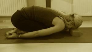 Balasana yoga-blok